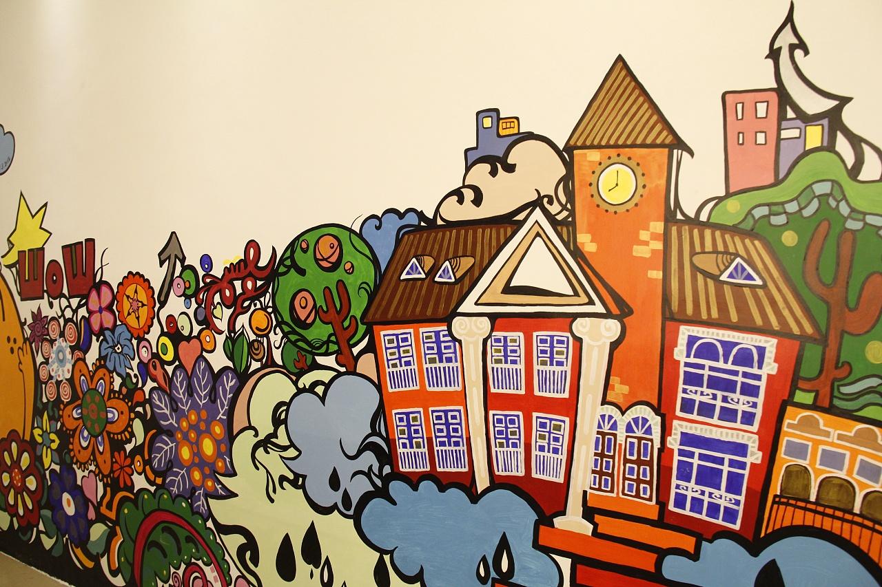 商业店铺涂鸦墙绘图片