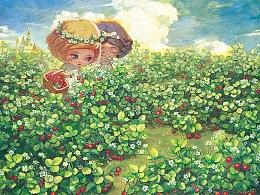 【画娃娃】摘草莓