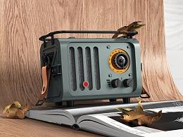 猫王收音机建模渲染