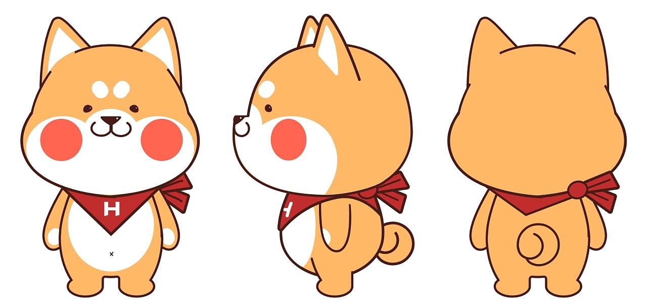 柴犬卡通简笔画