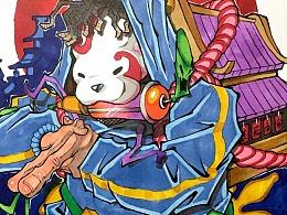 Pitbeat比特《我的马克笔手绘涂鸦稿子合集》