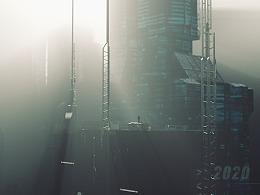 C4D城市与自然场景RS、OC和标准渲染器渲染作品