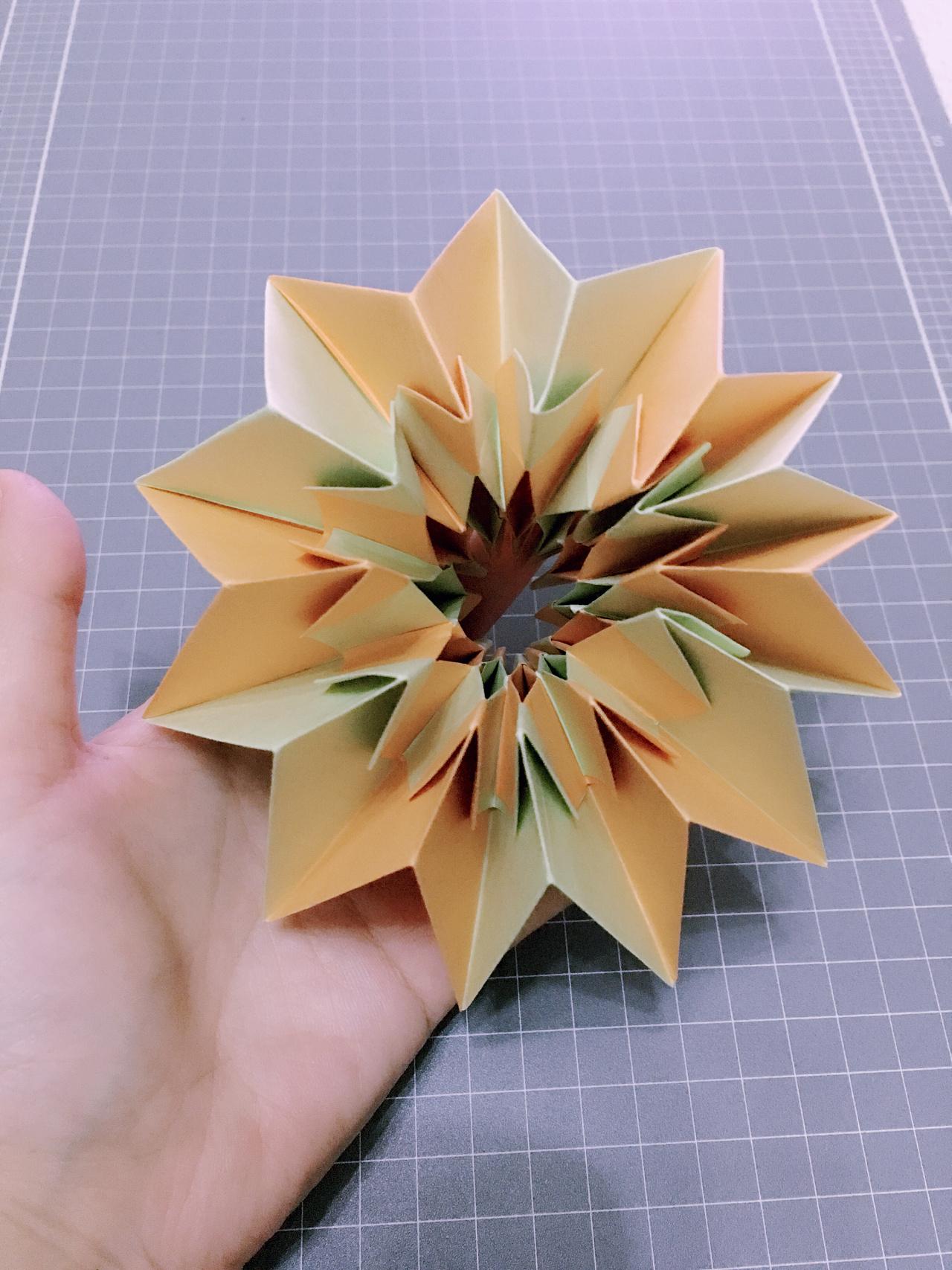 科技小制作折纸花