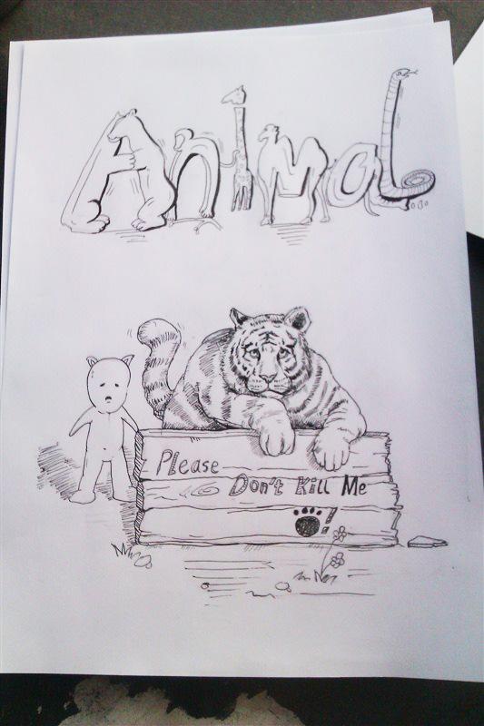 大学一些关于环保的习作|绘画习作|插画|medebo