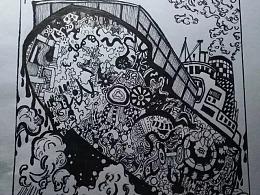 练习作业——黑白插画