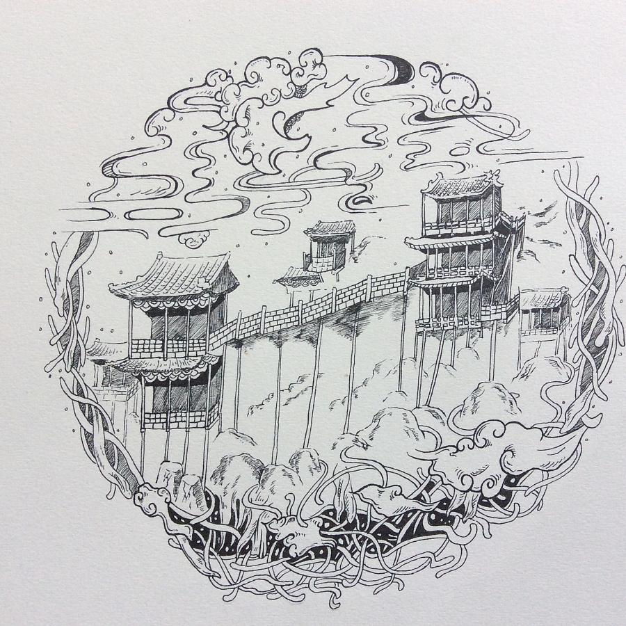 唯美字符画_唯美山西|商业插画|插画|hbhb123 - 原创设计作品 - 站酷 (ZCOOL)