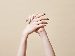 鎏光金棕莫兰迪系列指甲油拍摄