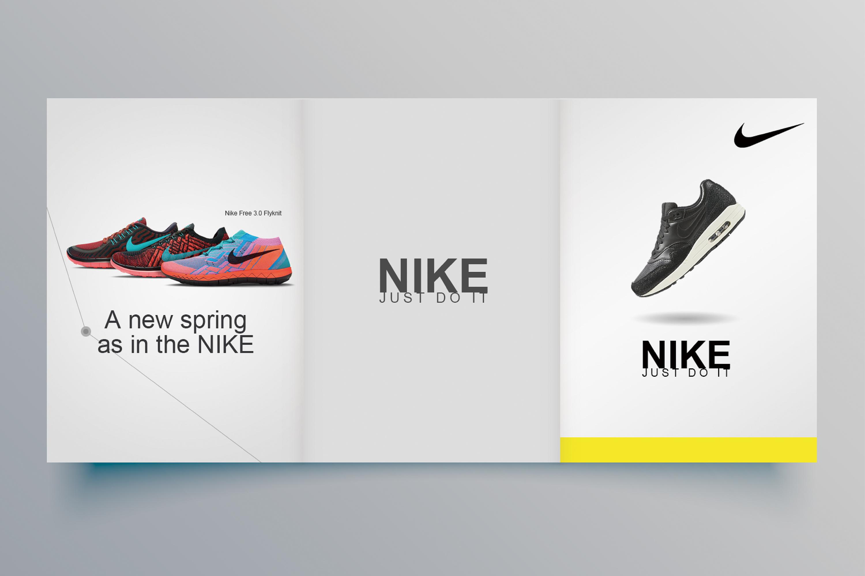 运动鞋三折页