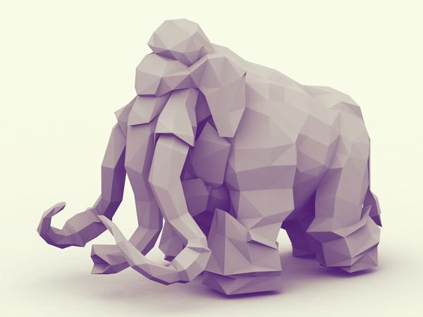3d 动物折纸效果 水云居