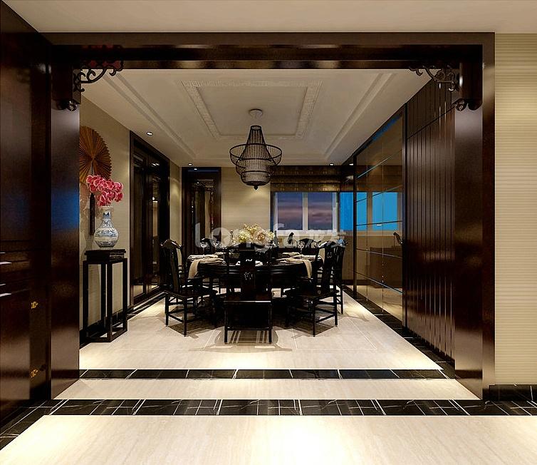 华城绿洲中式大三居装修效果图《优雅东方》图片