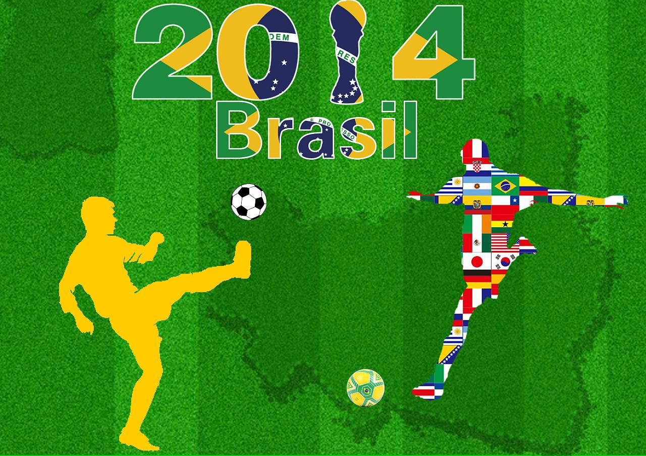作品以巴西国旗及巴西地图为素材 利用参加世界