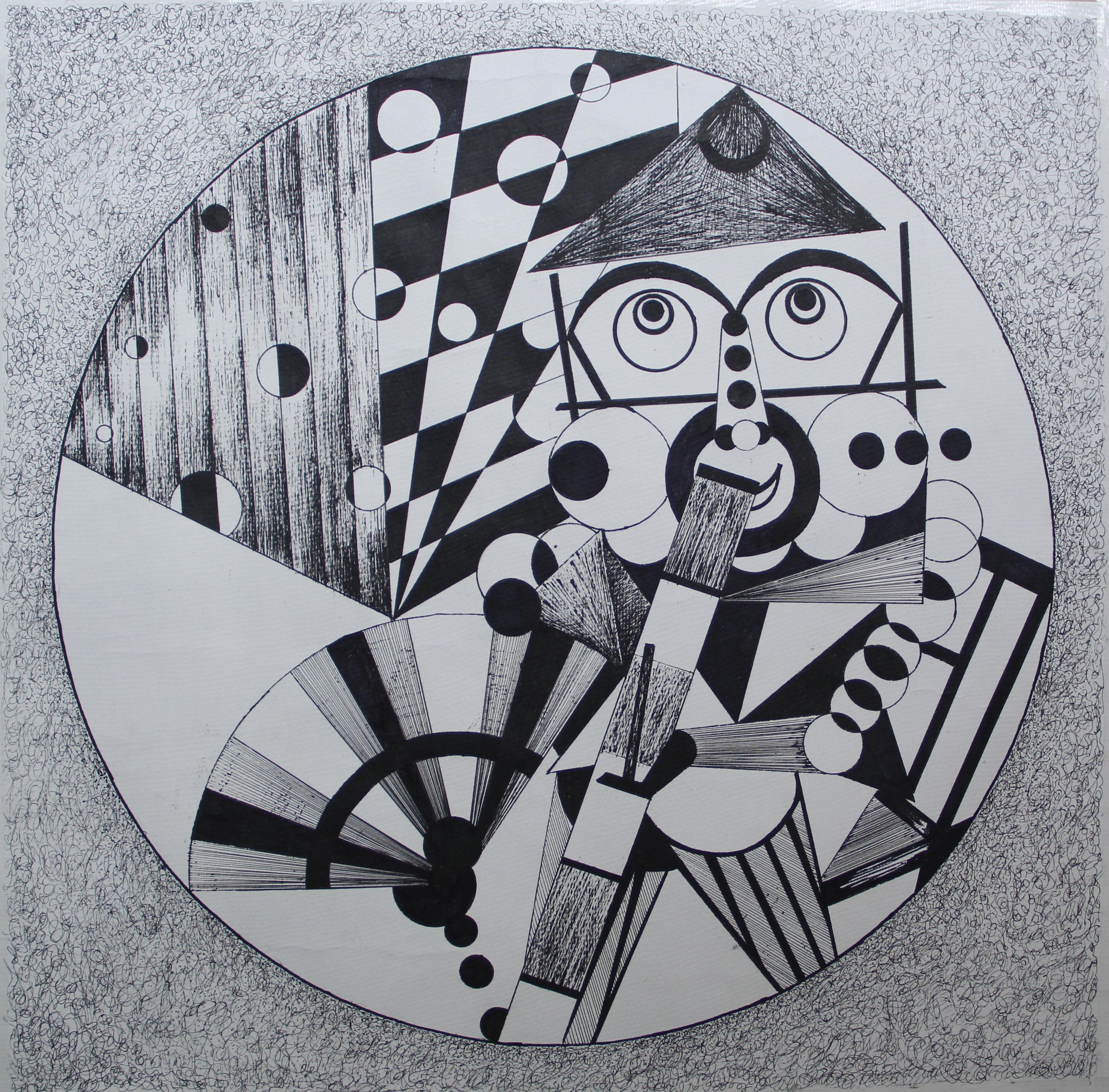 重组人体结构,用最基本几何形体抽象概括