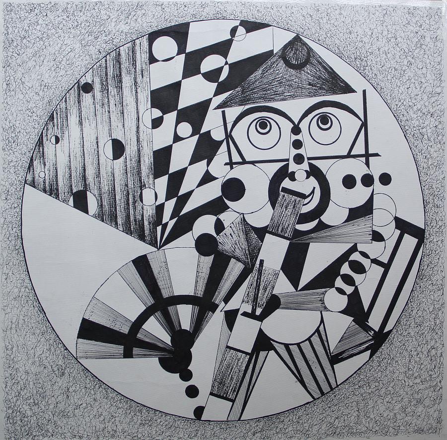 钢笔        重组人体结构,用最基本几何形体抽象概括,也是艺术设计