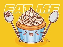 《EAT ME》卡通形象设计
