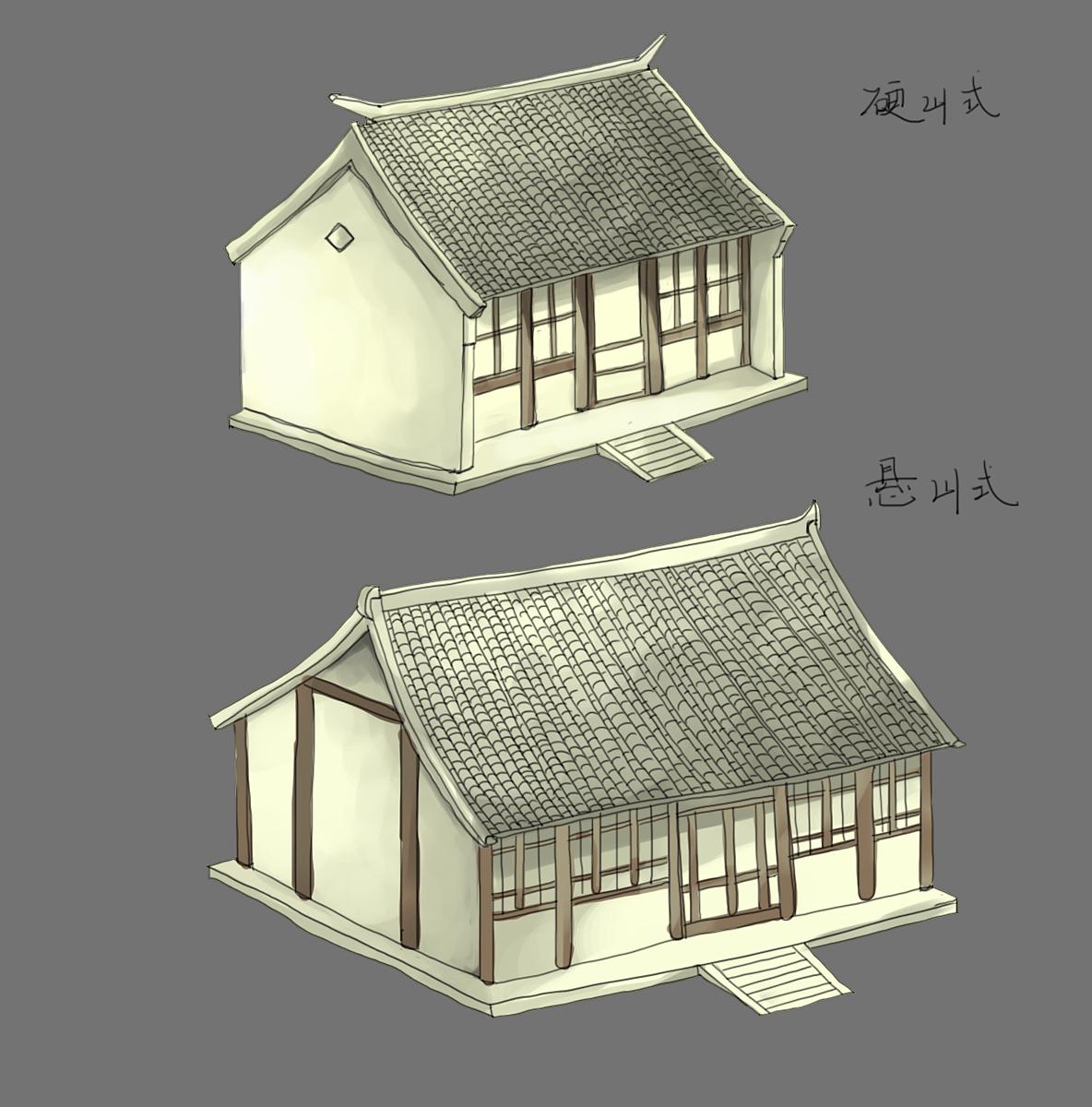 临摹古建筑