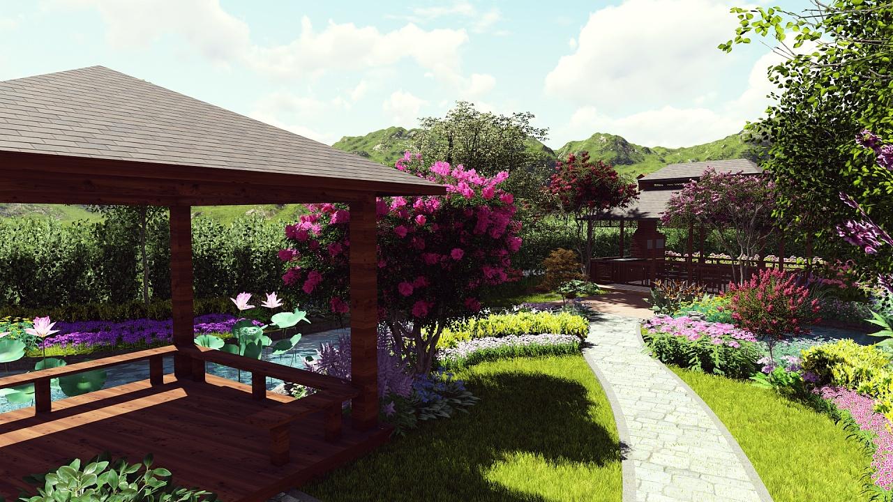 别墅花园效果图