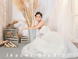 日式简约轻婚纱妆容/单人婚纱摄影
