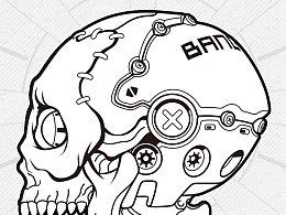 机械骷髅2-贴纸秀