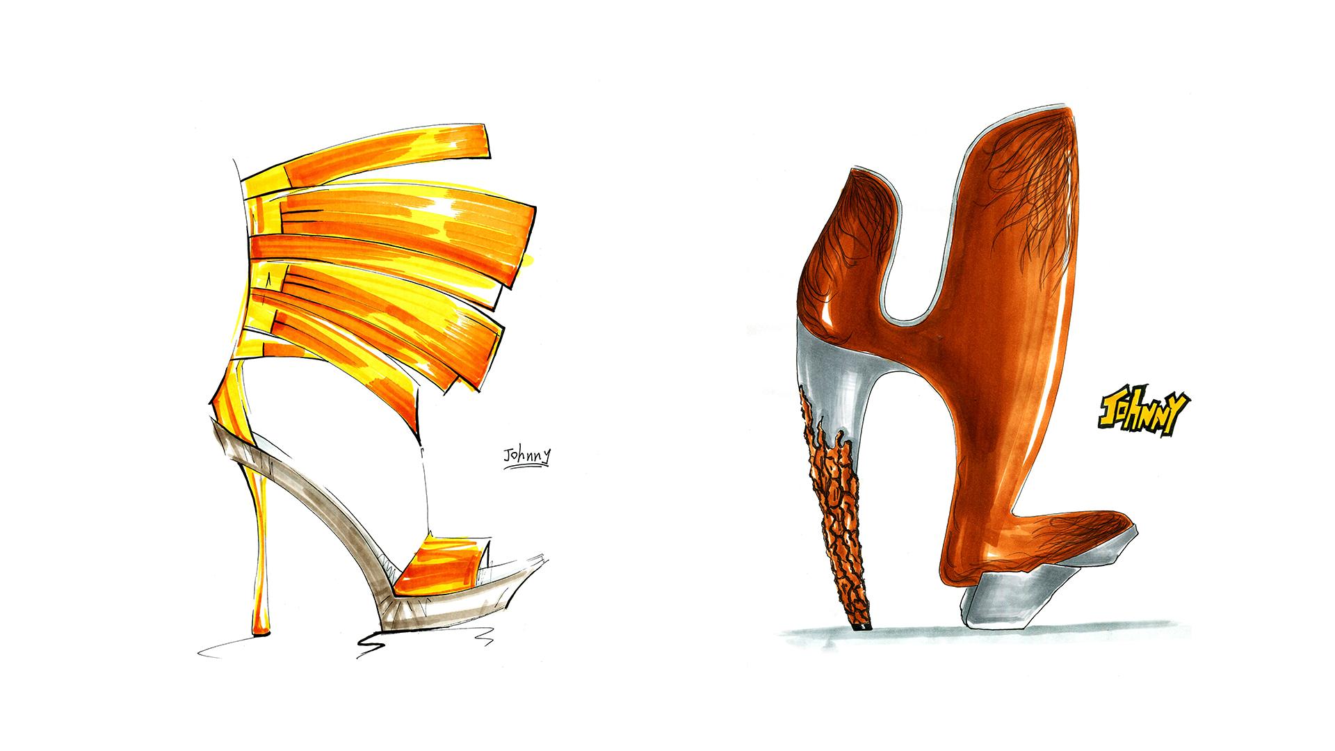 鞋子手绘|服装|鞋类|linlu1990 - 原创作品 - 站酷