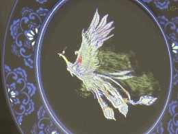 中国传统元素瓷盘