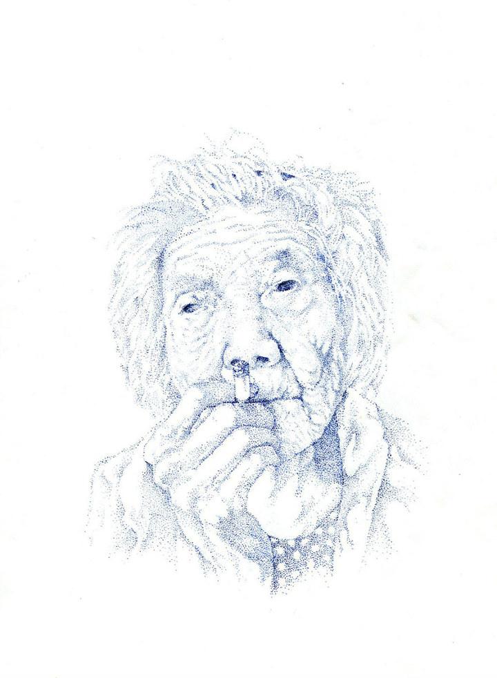 抽烟的奶奶