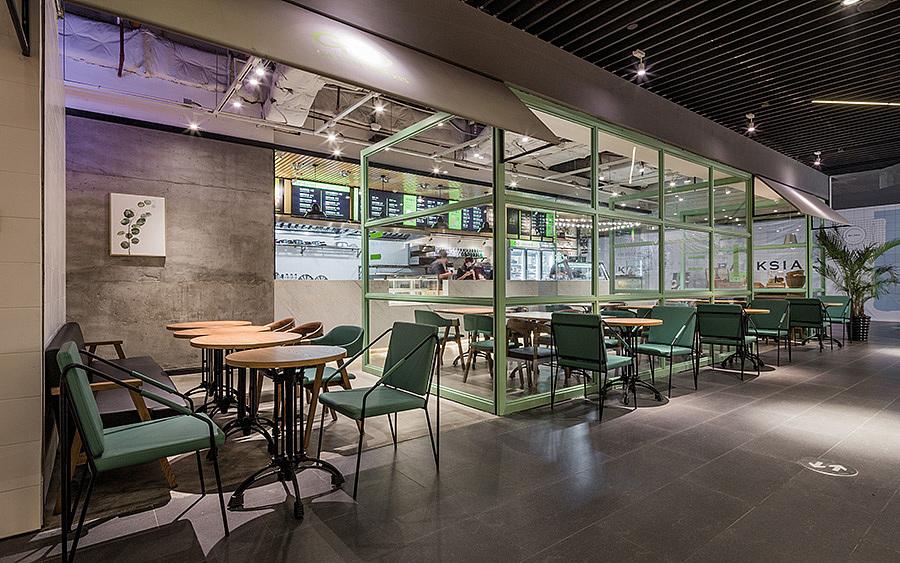 轻餐店 · 餐饮空间设计_G·O沙拉 广州花城汇店