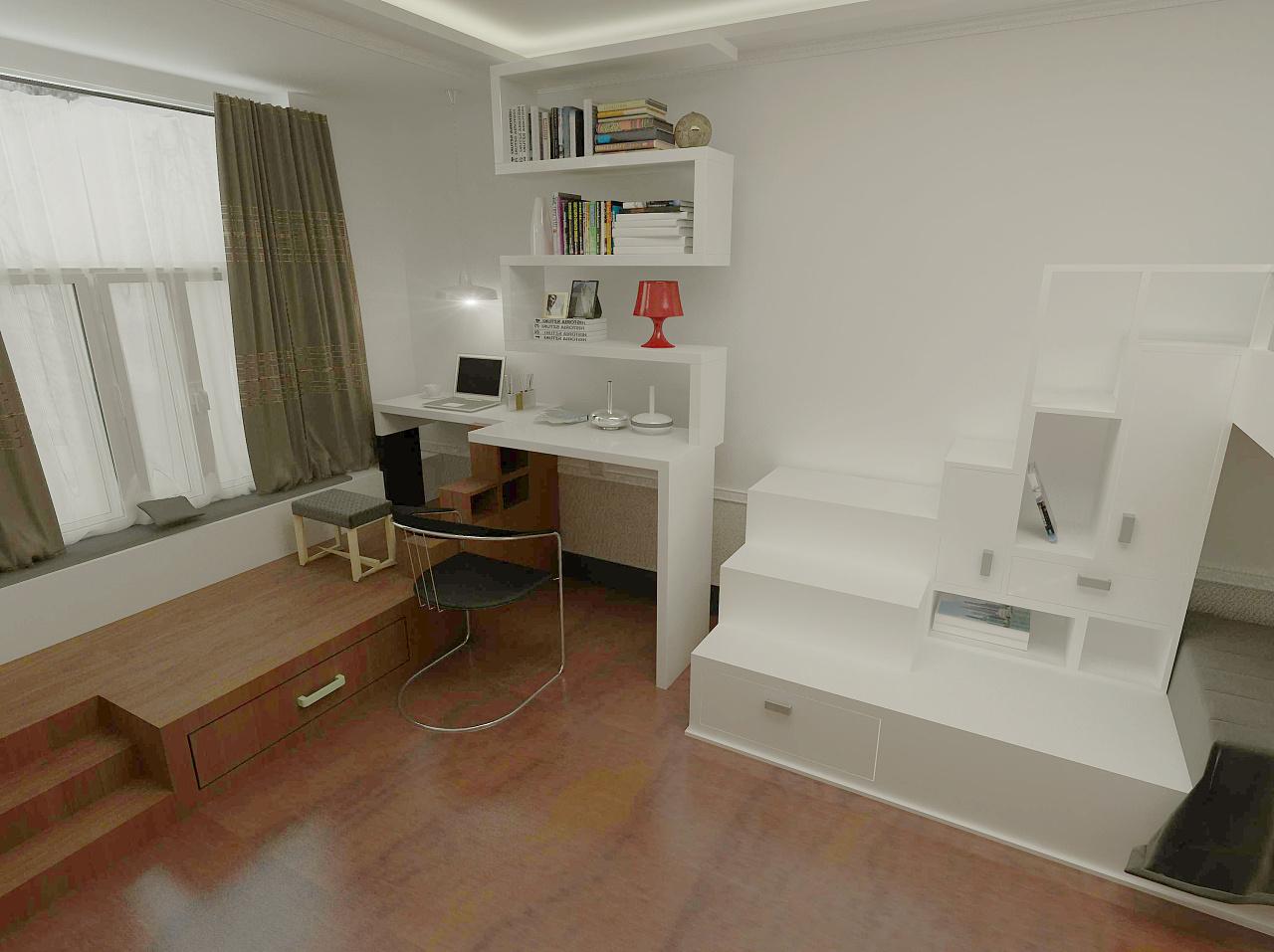 大学寝室居住空间设计(2人,4人,6人寝室)图片