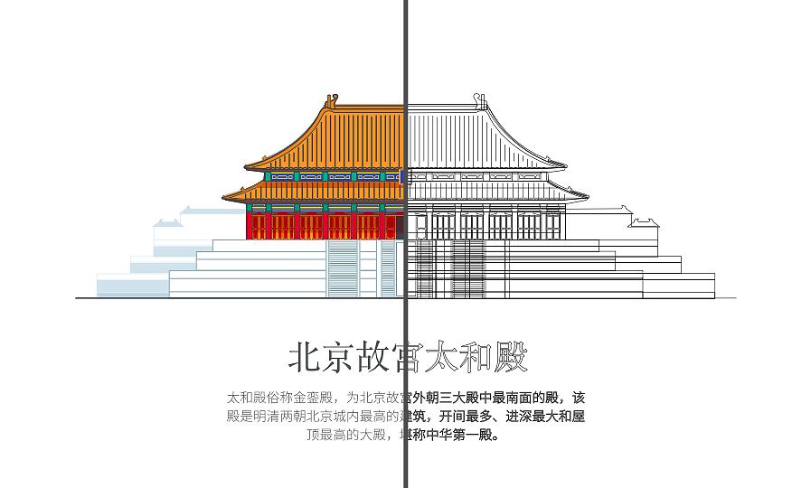 中式建筑扁平化尝试 - 为传统文化的现代化图片
