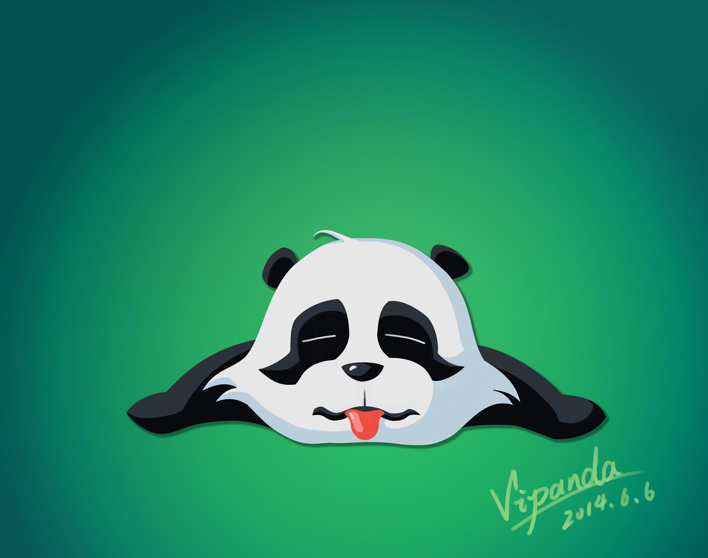 原创动漫形象熊猫v仔图片