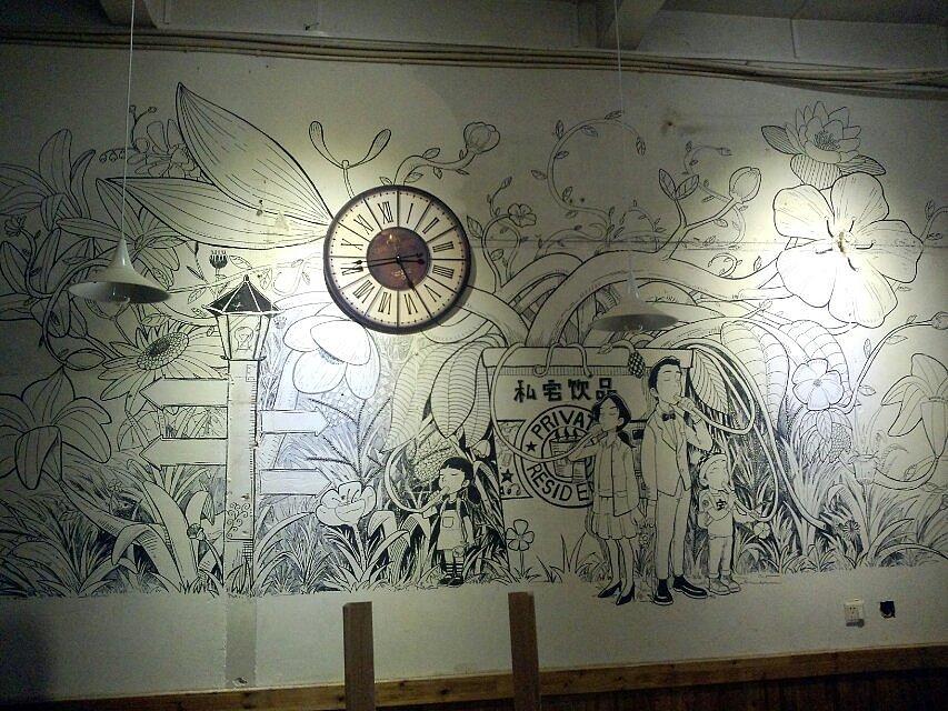 咖啡店墙绘