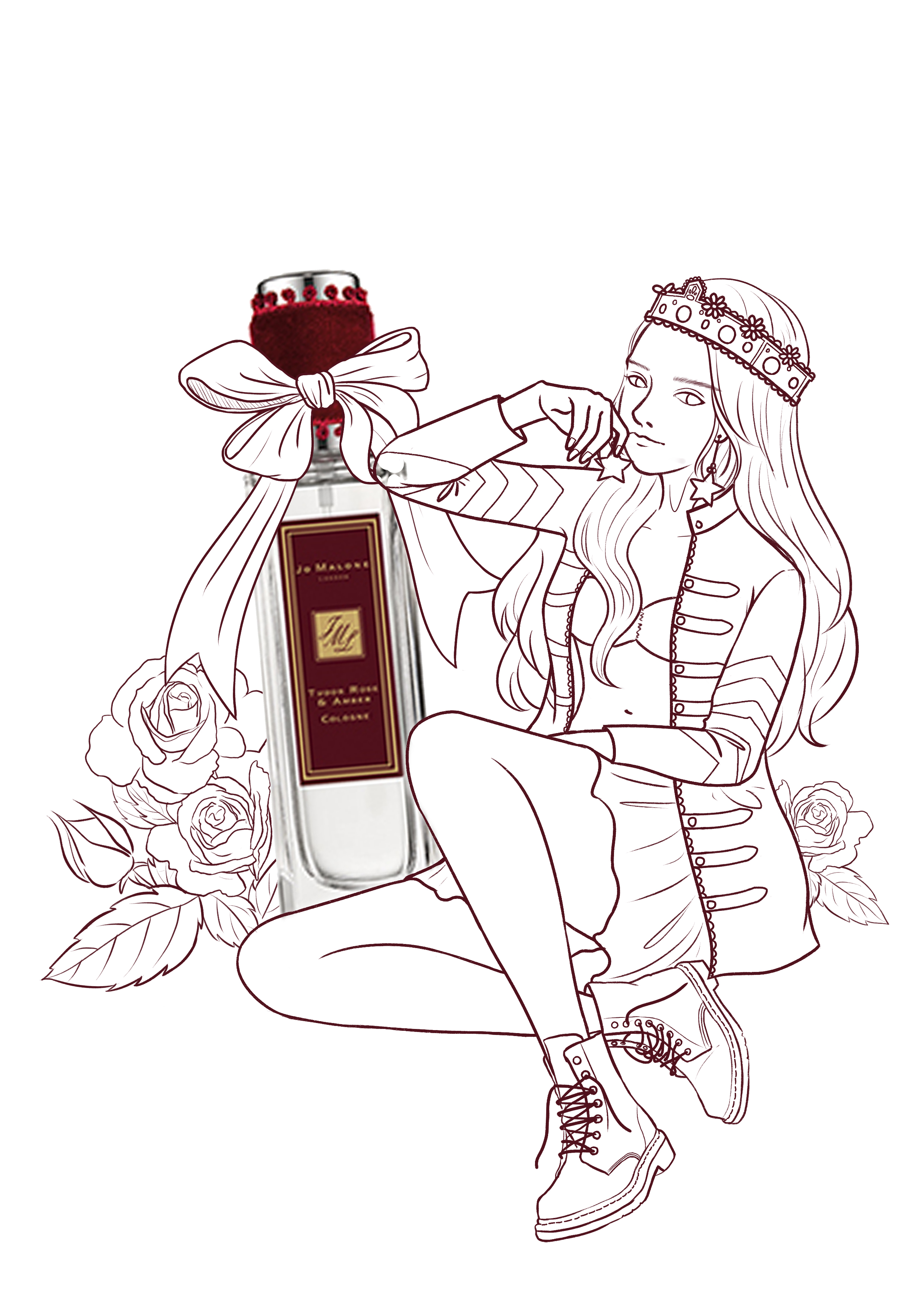 香水简笔画手绘