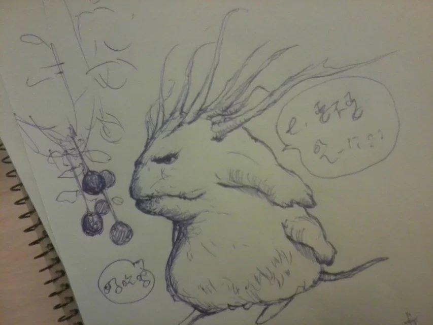 一些圆珠笔手绘漫画的整理