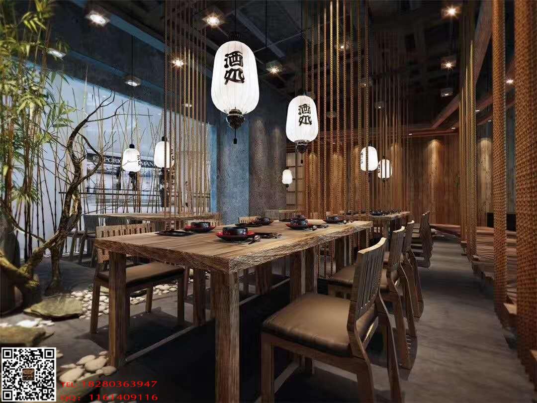 《鹤羽日式餐厅》成都特色餐厅装修设计|日式餐厅案例