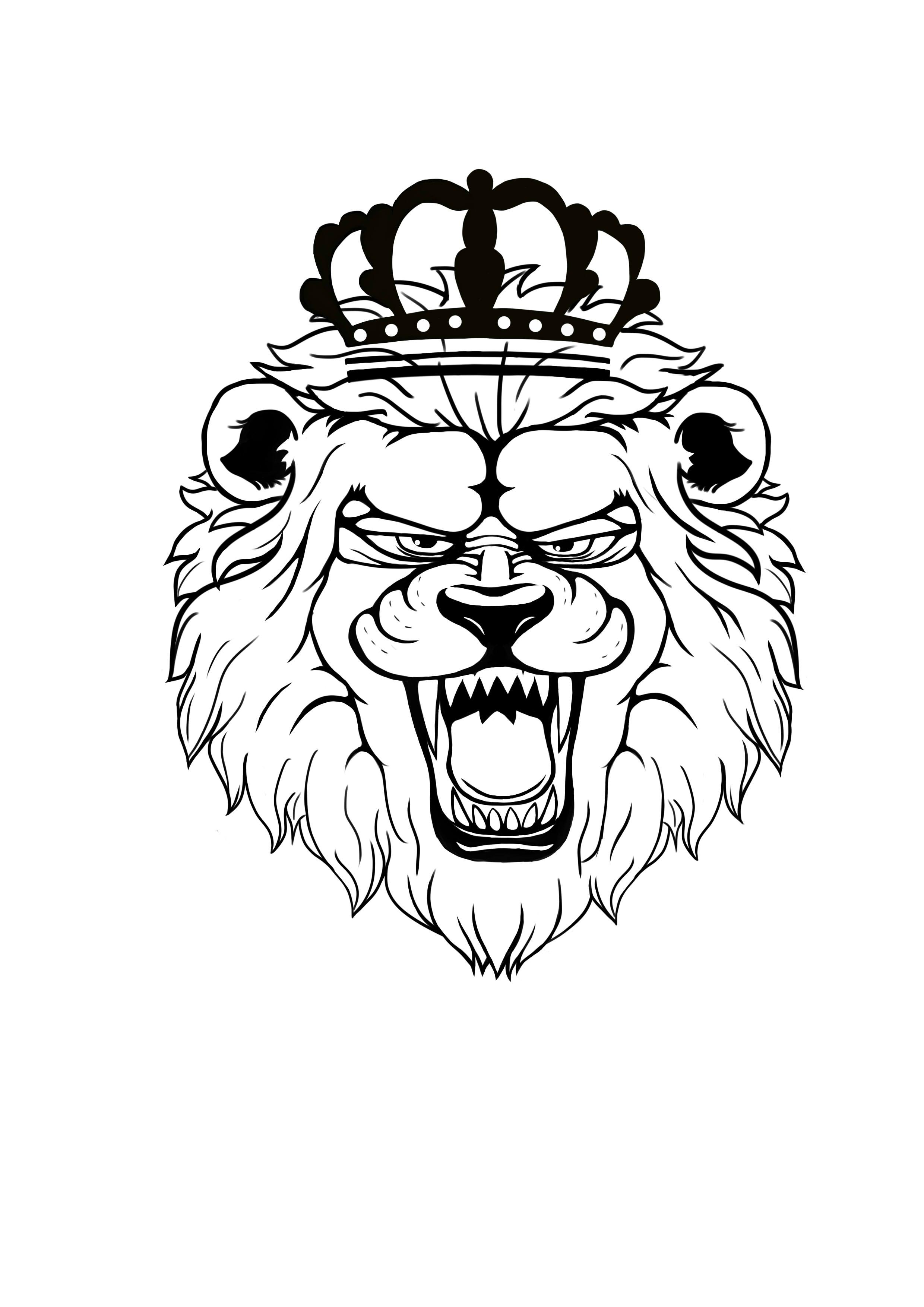 手绘狮子图片大全大图