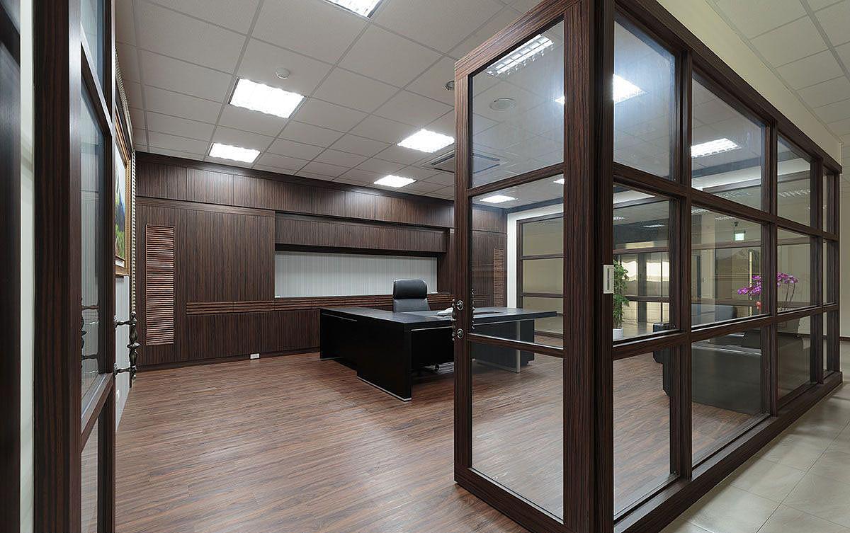 郑州厂房办公室装修公司 简约大气上档次的办公装修图