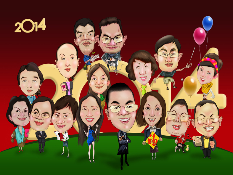 2014某公司的员工聚会图片