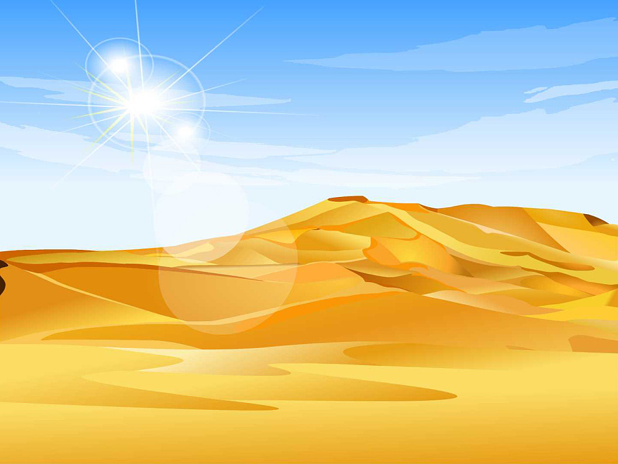 沙漠场景简笔画