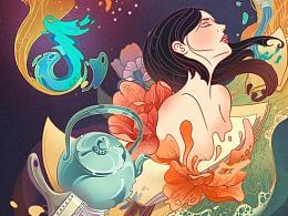抖音「DOU艺计划」系列插画海报