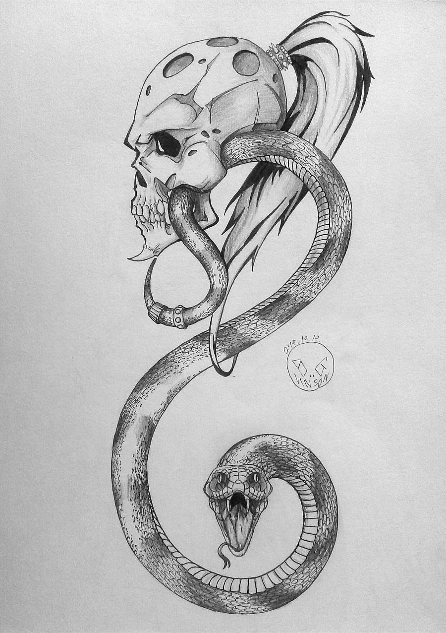 【自绘】纹身图案设计~~ 其他 其他 黑羊Vinso霜降的设计字体图片