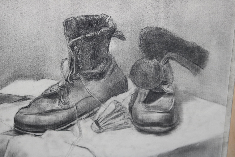 素描 静物鞋子
