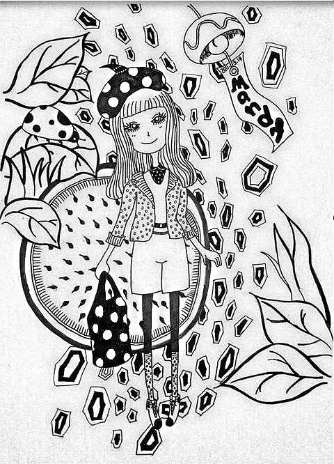手绘线描涂鸦