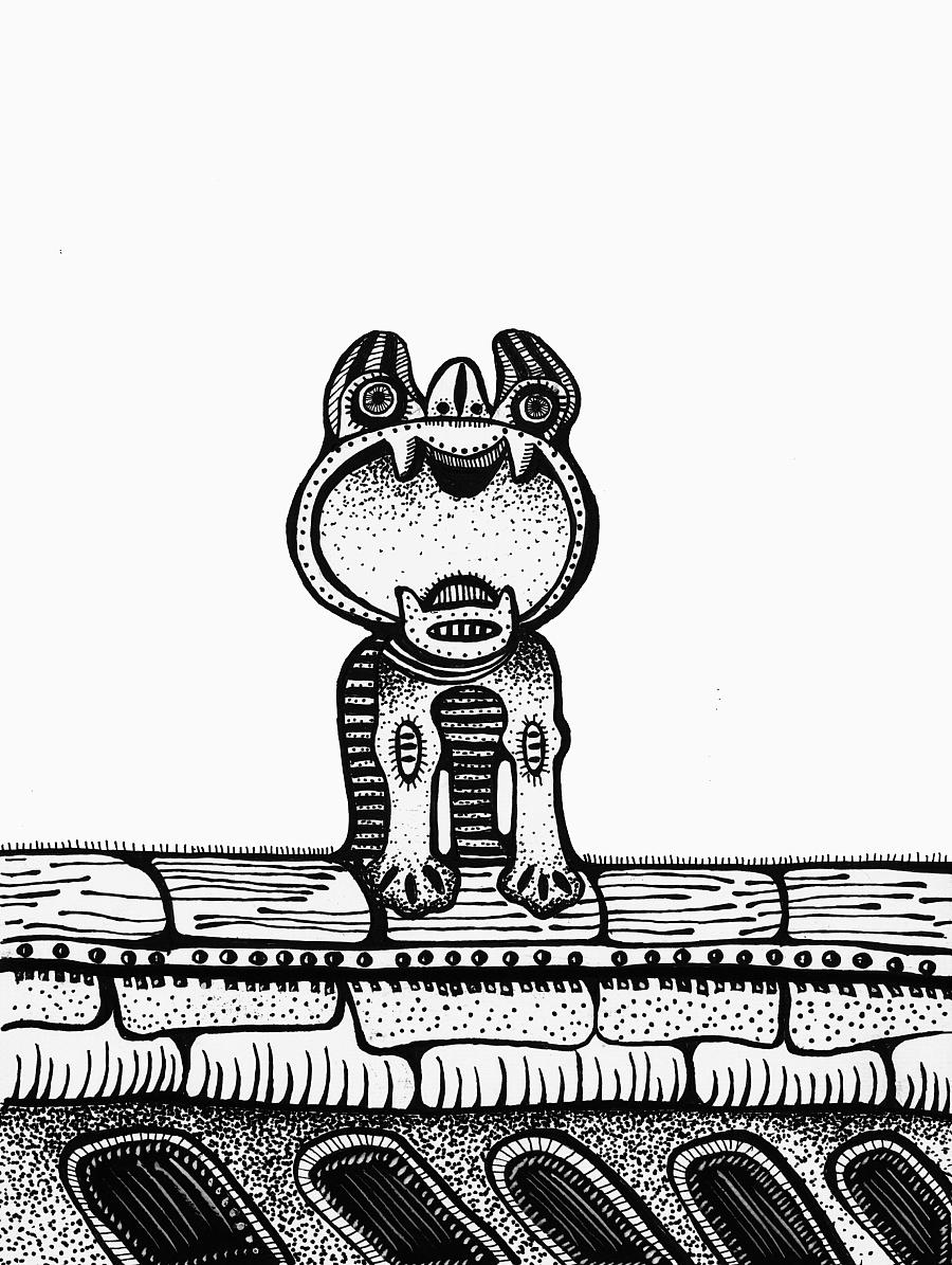 国外创意书籍手绘瓦猫