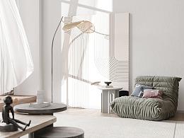 白色 现代挑空公寓