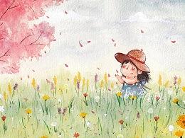 你看着世界开满了花