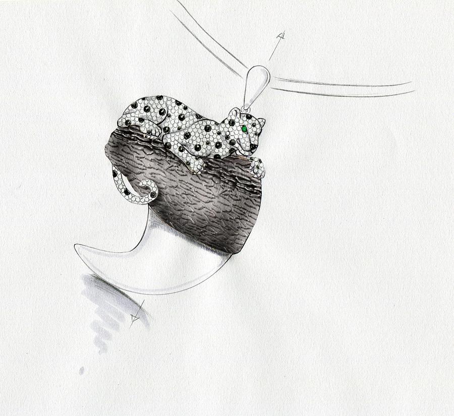 代波军艺术珠宝手绘设计稿! 首饰 手工艺 代波军艺术