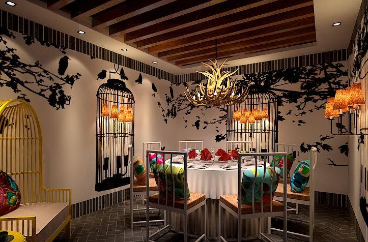 《重庆汇餐厅菜》重庆字体特色装修设计|江南私房诗情画意的创意餐厅v餐厅图片