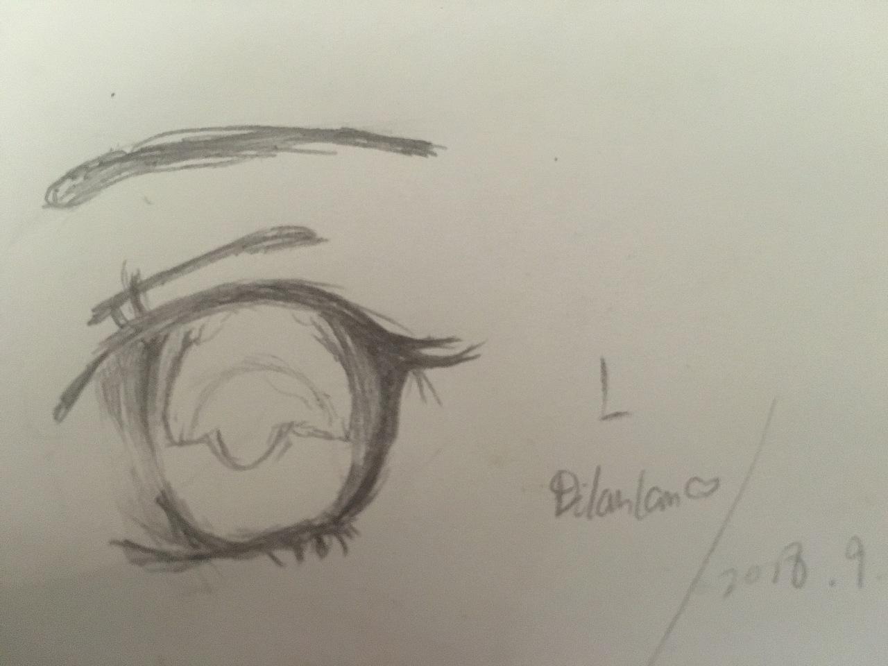 铅笔画(眼睛)图片