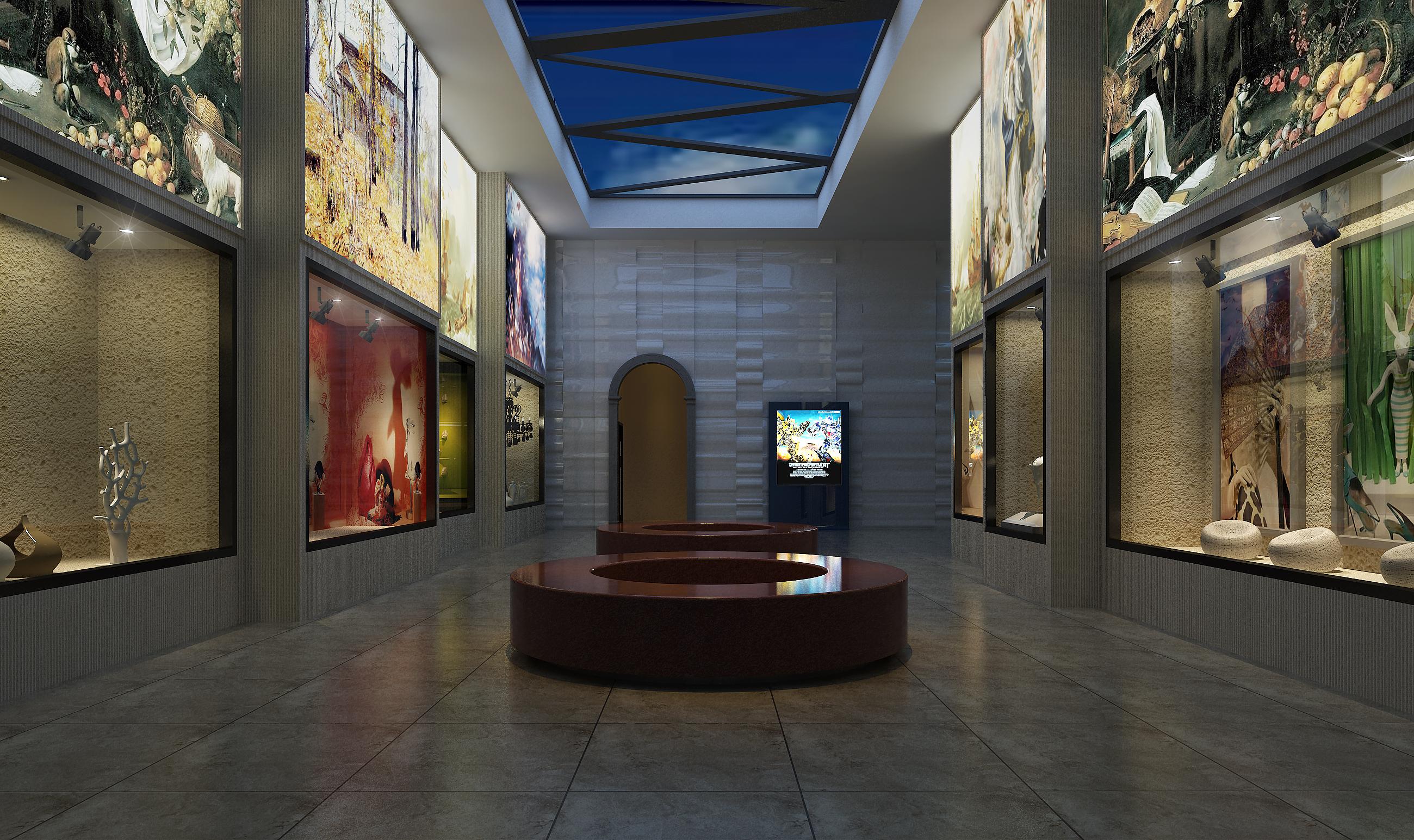 艺术展厅设计,博物馆设计