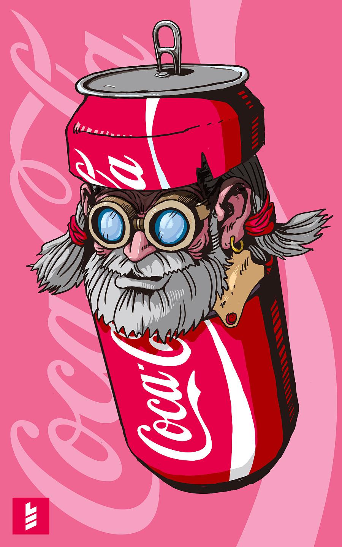 可乐图片卡通手绘