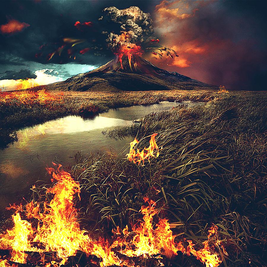 原创作品:火山爆发